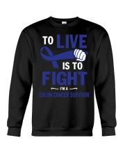 colon-cancer-darkblue-lfi Crewneck Sweatshirt thumbnail