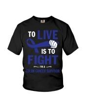 colon-cancer-darkblue-lfi Youth T-Shirt thumbnail