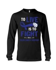 colon-cancer-darkblue-lfi Long Sleeve Tee thumbnail