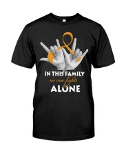 appendix-cancer-amber-fight-together Classic T-Shirt front
