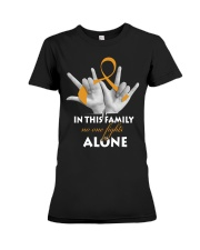 appendix-cancer-amber-fight-together Premium Fit Ladies Tee thumbnail