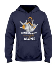 appendix-cancer-amber-fight-together Hooded Sweatshirt thumbnail