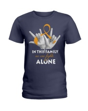 appendix-cancer-amber-fight-together Ladies T-Shirt thumbnail