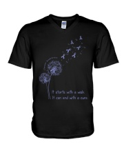 all-cancer-lavender-stwc V-Neck T-Shirt thumbnail