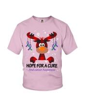 anal-cancer-purple-green-hfac Youth T-Shirt thumbnail