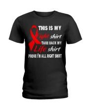 blood-cancer-red-myshirt Ladies T-Shirt thumbnail