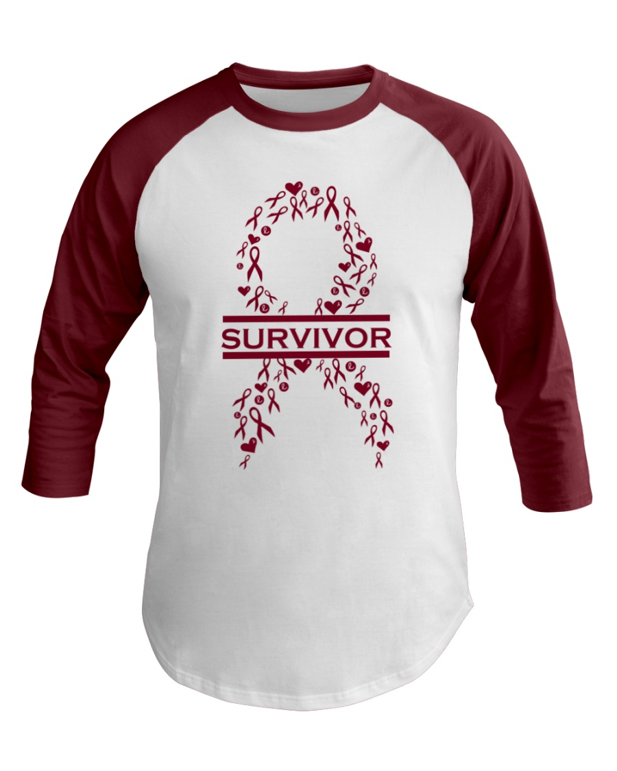 multiple-myeloma-burgundy-lsurvivor Baseball Tee