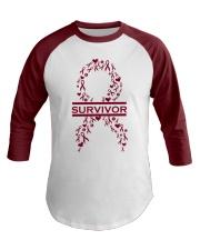 multiple-myeloma-burgundy-lsurvivor Baseball Tee front