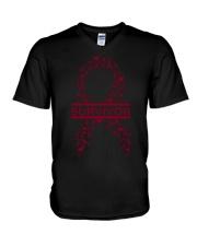 multiple-myeloma-burgundy-lsurvivor V-Neck T-Shirt thumbnail