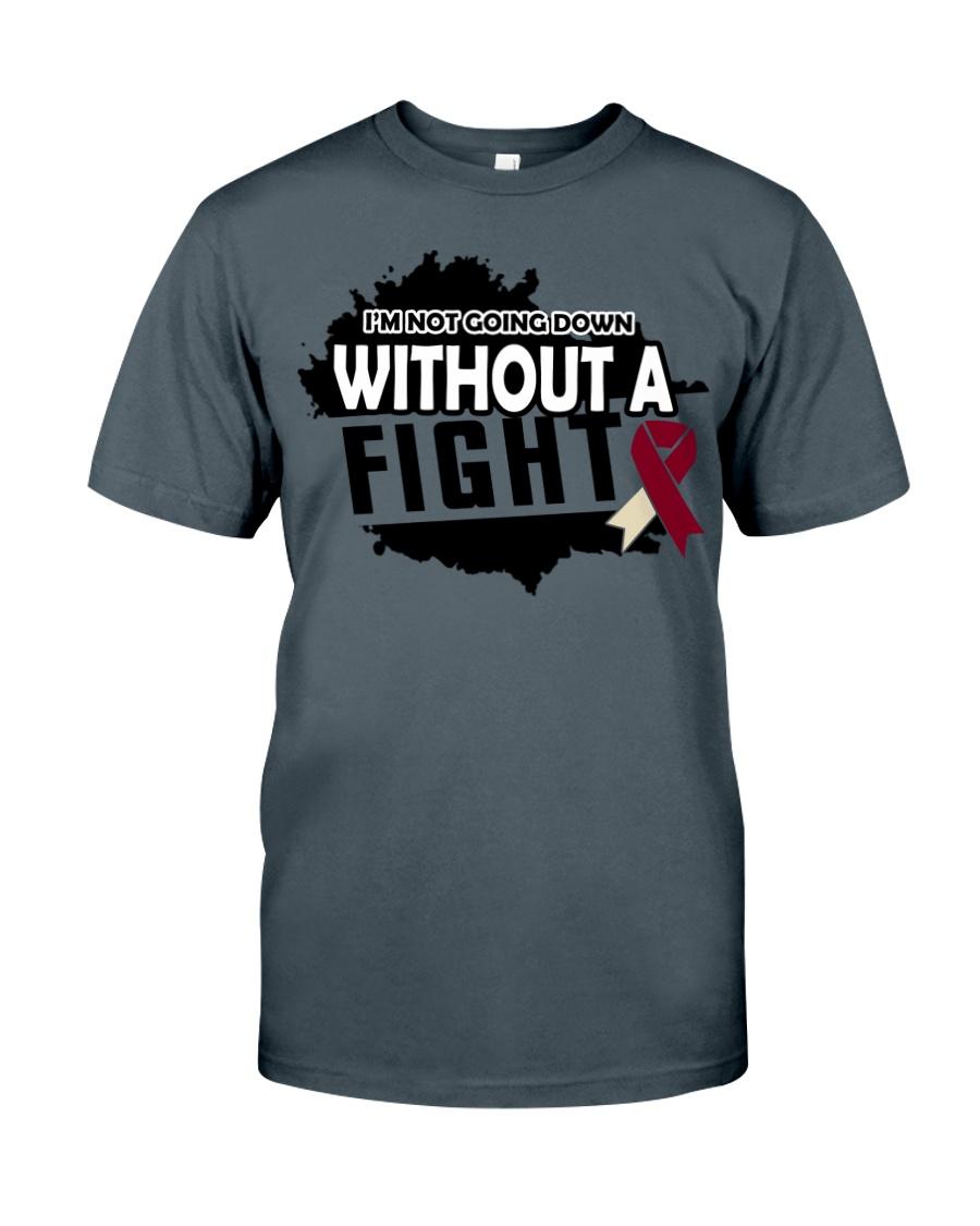 head-neck-cancer-burgundy-ivory-ngdf Classic T-Shirt