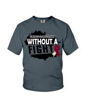 head-neck-cancer-burgundy-ivory-ngdf Youth T-Shirt thumbnail
