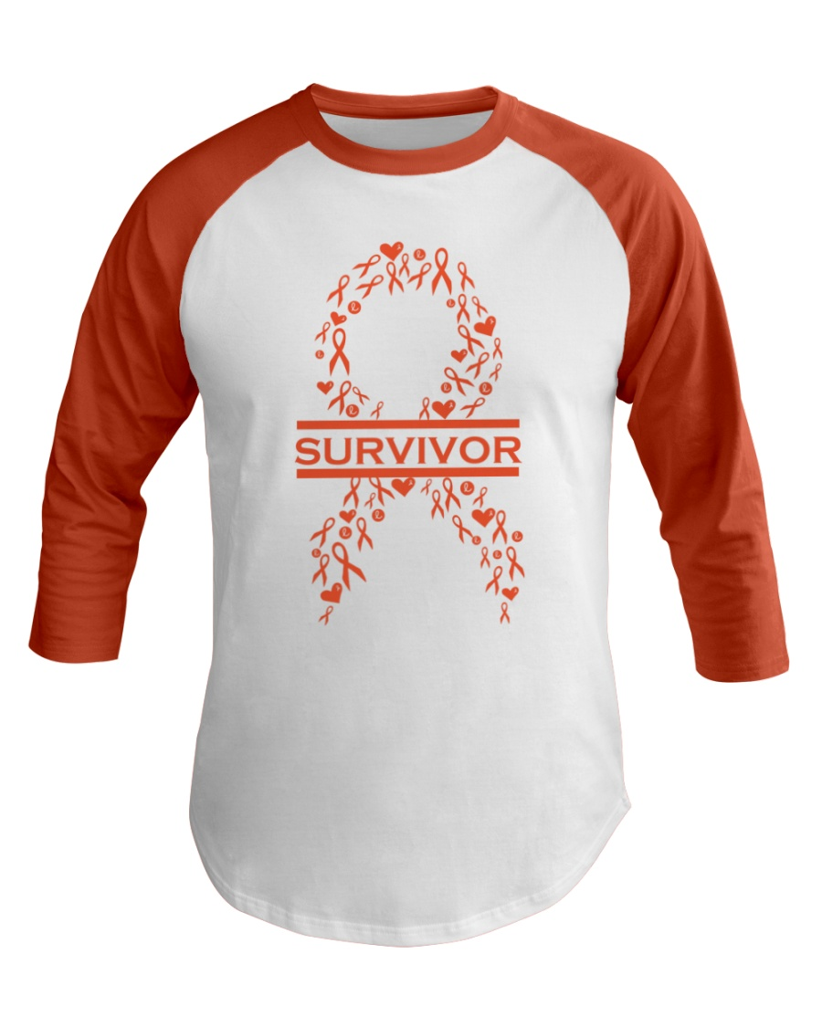 leukemia-orange-lsurvivor Baseball Tee