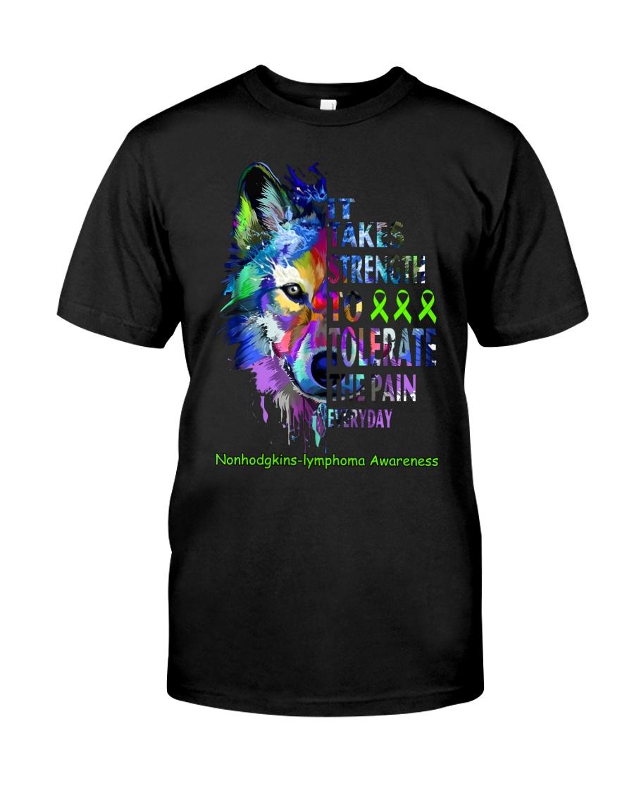 nonhodgkins-lymphoma-limegreen-strngttt Classic T-Shirt