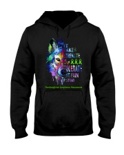 nonhodgkins-lymphoma-limegreen-strngttt Hooded Sweatshirt thumbnail
