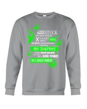 nonhodgkins-lymphoma-limegreen-stuck Crewneck Sweatshirt thumbnail