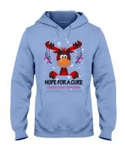 thyroid-cancer-teal-blue-pink-hfac Hooded Sweatshirt thumbnail