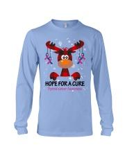 thyroid-cancer-teal-blue-pink-hfac Long Sleeve Tee thumbnail