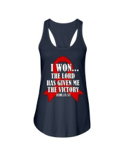 blood-cancer-red-victory Ladies Flowy Tank thumbnail