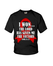 blood-cancer-red-victory Youth T-Shirt thumbnail