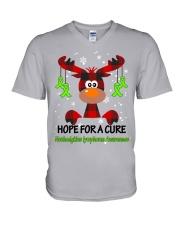 nonhodgkins-lymphoma-limegreen-hfac V-Neck T-Shirt thumbnail