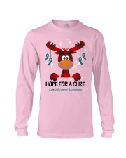 cervical-cancer-teal-white-hfac Long Sleeve Tee thumbnail