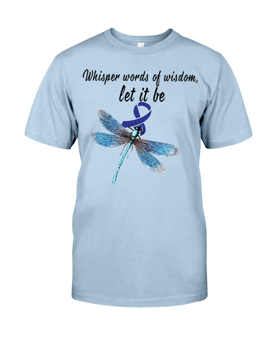 colon-cancer-darkblue-letitbe Classic T-Shirt