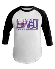 leiomyosarcoma-purple-loved Baseball Tee thumbnail