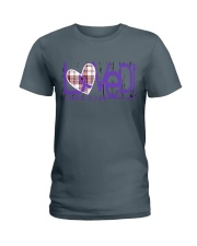 leiomyosarcoma-purple-loved Ladies T-Shirt thumbnail