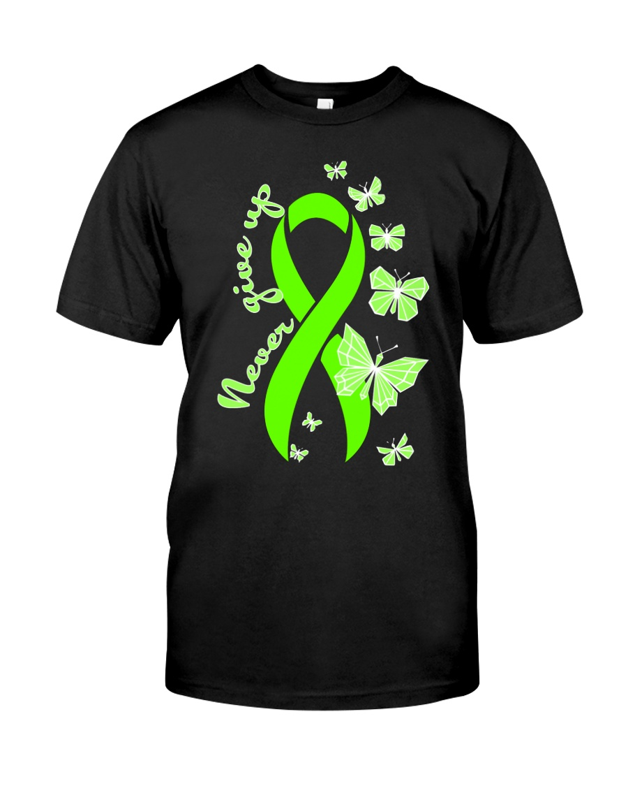nonhodgkins-lymphoma-limegreen-never Classic T-Shirt