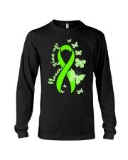 nonhodgkins-lymphoma-limegreen-never Long Sleeve Tee thumbnail