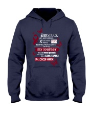head-neck-cancer-burgundy-ivory-STUCK Hooded Sweatshirt thumbnail