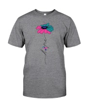 thyroid-cancer-teal-blue-pink-fhope Classic T-Shirt front