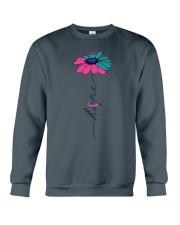 thyroid-cancer-teal-blue-pink-fhope Crewneck Sweatshirt thumbnail