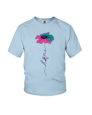 thyroid-cancer-teal-blue-pink-fhope Youth T-Shirt thumbnail