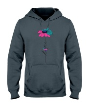thyroid-cancer-teal-blue-pink-fhope Hooded Sweatshirt thumbnail