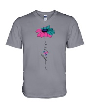 thyroid-cancer-teal-blue-pink-fhope V-Neck T-Shirt thumbnail