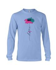 thyroid-cancer-teal-blue-pink-fhope Long Sleeve Tee thumbnail