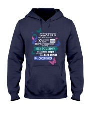 thyroid-cancer-pink-teal-blue-STUCK Hooded Sweatshirt thumbnail