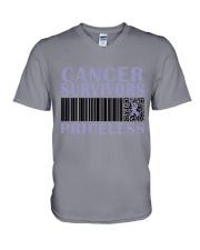 all-cancer-lavender-priceless V-Neck T-Shirt thumbnail