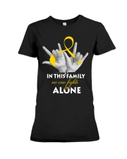 childhood-cancer-gold-fight-together Premium Fit Ladies Tee thumbnail