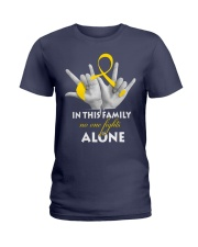 childhood-cancer-gold-fight-together Ladies T-Shirt thumbnail