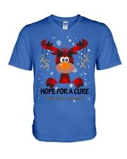 brain-cancer-grey-hfac V-Neck T-Shirt thumbnail