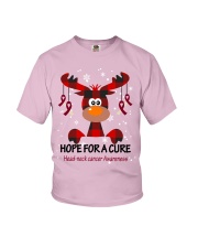 head-neck-cancer-burgundy-ivory-hfac Youth T-Shirt tile