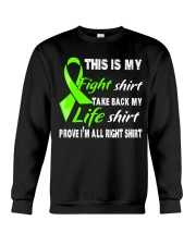 nonhodgkins-lymphoma-limegreen-myshirt Crewneck Sweatshirt thumbnail