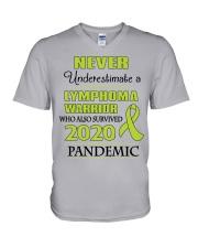 lymphoma-lime-npan V-Neck T-Shirt thumbnail
