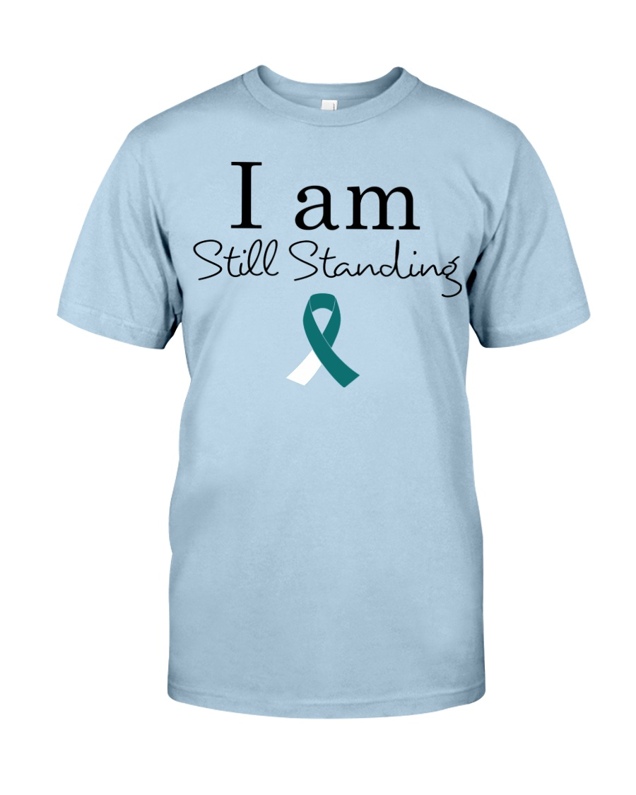 cervical-cancer-teal-white-ssta Classic T-Shirt