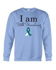 cervical-cancer-teal-white-ssta Crewneck Sweatshirt thumbnail
