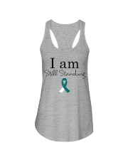 cervical-cancer-teal-white-ssta Ladies Flowy Tank thumbnail