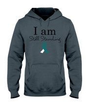cervical-cancer-teal-white-ssta Hooded Sweatshirt thumbnail