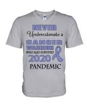 all-cancer-lavender-npan V-Neck T-Shirt thumbnail